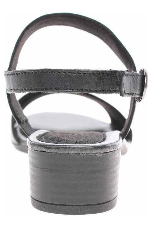Čierne dámske sandále na podpätku 3,5 cm