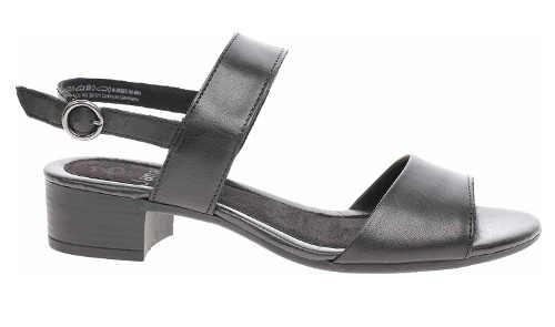 Čierne dámske sandále na podpätku