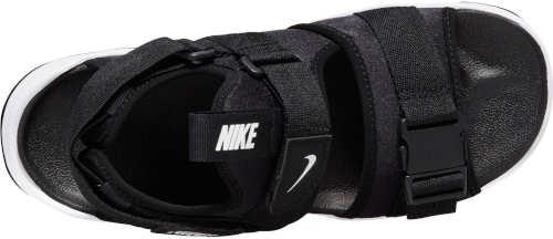 Čiernobiele letnej turistickej sandále Nike