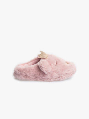 Dievčenské ružové hrejivé papuče
