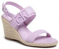 Fialkové dámske sandále espadrilky CALVIN KLEIN