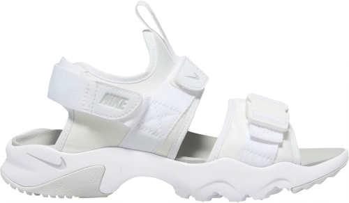 Jednofarebné biele dámske športové sandále Nike CANYON SANDAL