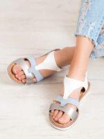 Pohodlné farebné páskové sandálky