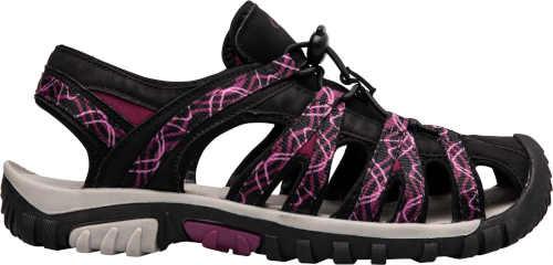 Sandále dámske v čierno-fialovom prevedení