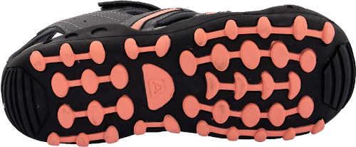 Šedo-ružové dievčenské športové sandále Alpine Pro