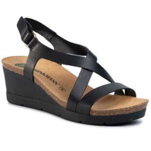 Dámske kožené páskové sandále