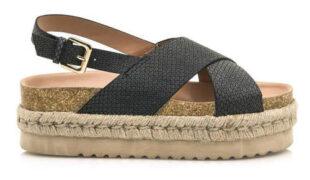 Korkové sandále MTNG na espadrilové platforme