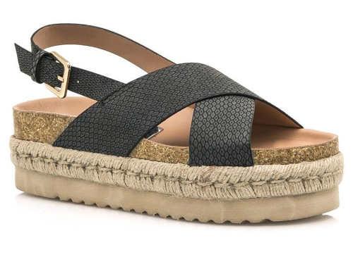 Pohodlné sandálky na espadrillové podrážke