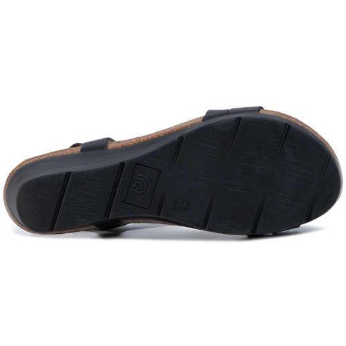 Sandále z kože na kline