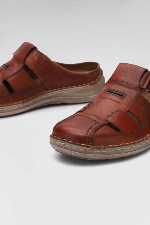 Štýlové kožené pánske papuče