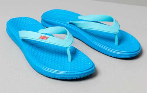 Modré Nike detské žabky gumové