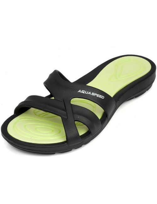Papuče dámske dvojfarebné gumové
