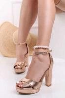 Páskové elegantné sandále na vysokom podpätku