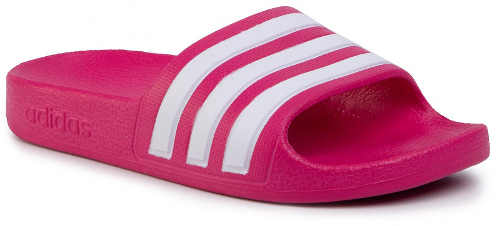 Ružové dievčenské nazpouváky Adidas Adilette Aquak EF1749