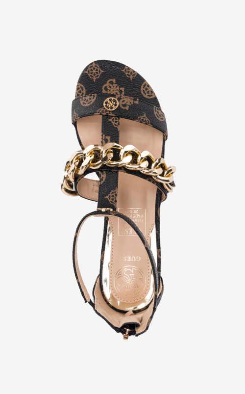 Sandále na nízkom podpätku