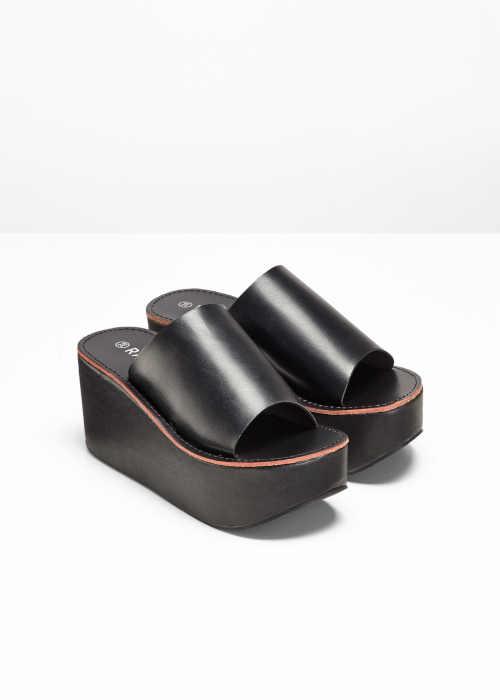 Dámske moderné papuče na platforme