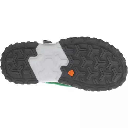 Detské sandále s remienkami zeleno-žlté