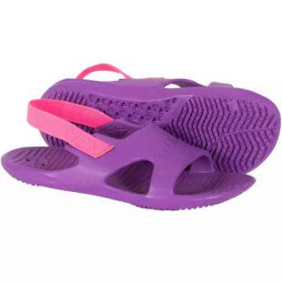 Dievčenské papuče do vody vo fialovej a ružovej farbe