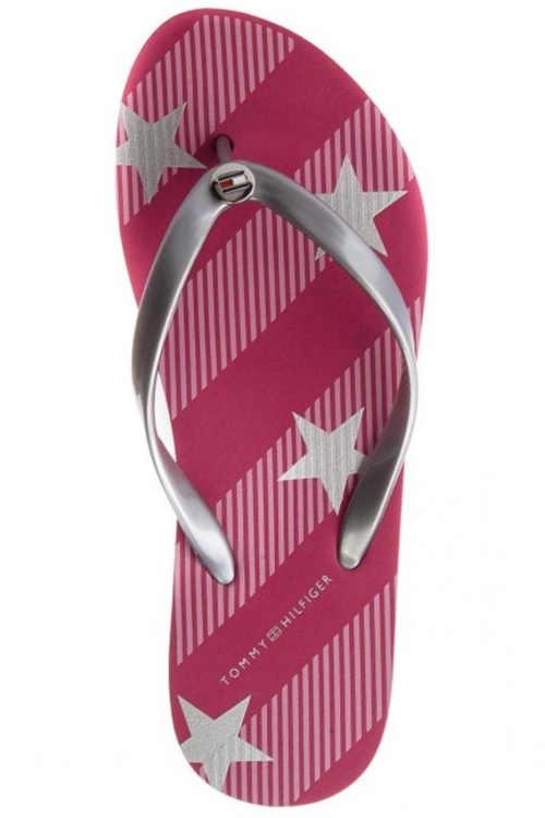 TH letná dámska obuv v ružovej farbe