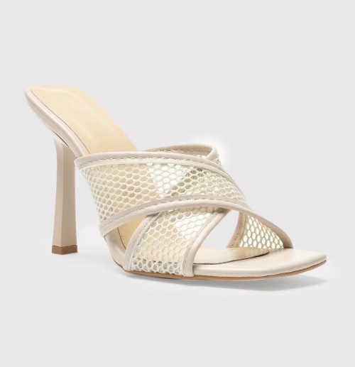 Béžové dámske letné papuče