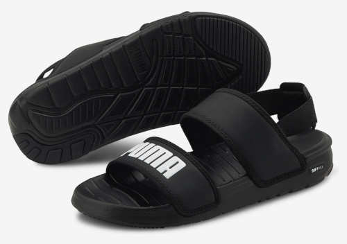 Čierne chlapčenské sandále Puma