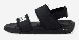 Čierne detské sandále Puma Softride