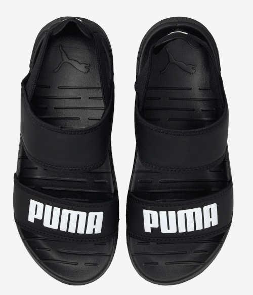 Čierne sandále pre chlapcov Puma