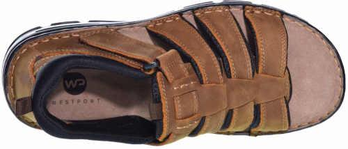 Čiernohnedé kožené sandále