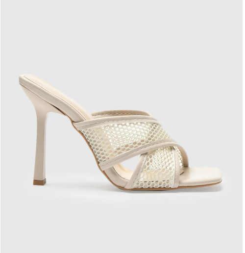 Dámske papuče Trendyol s vysokým podpätkom