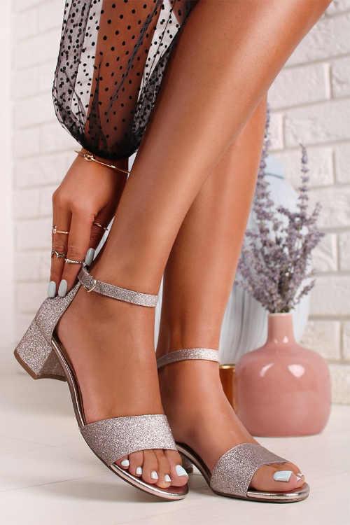 Dámske sandále na širokom pohodlnom podpätku