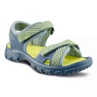 Detské turistické sandále v sivo-žltej farbe