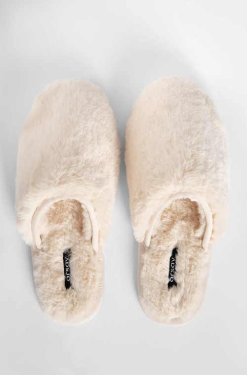 Domáce moderné papuče béžové
