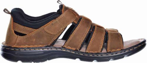 Kvalitné pánske kožené sandále s remienkami