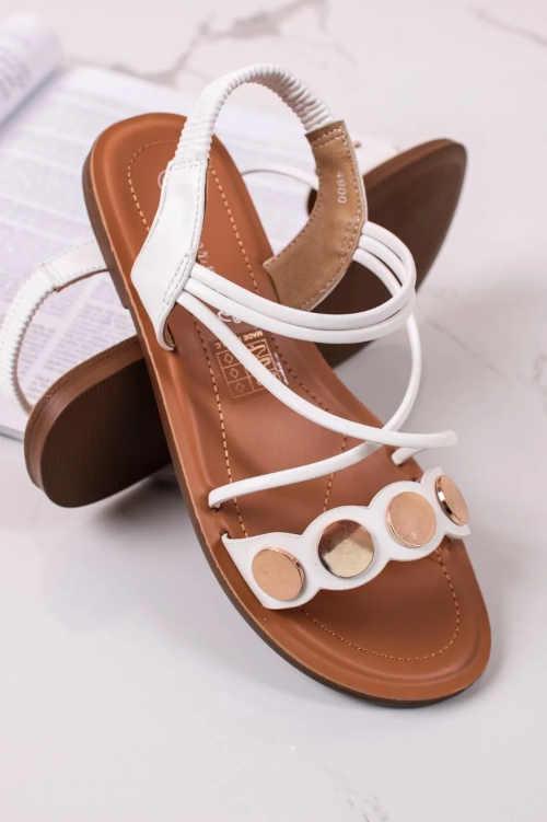 Moderné dámske sandále z ekokože