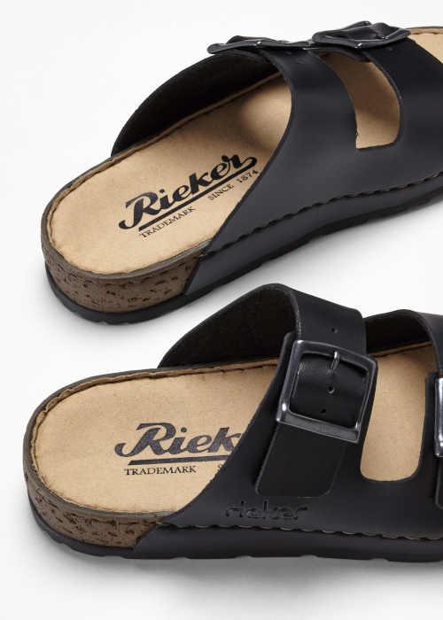 Pohodlné černé pantofle Rieker