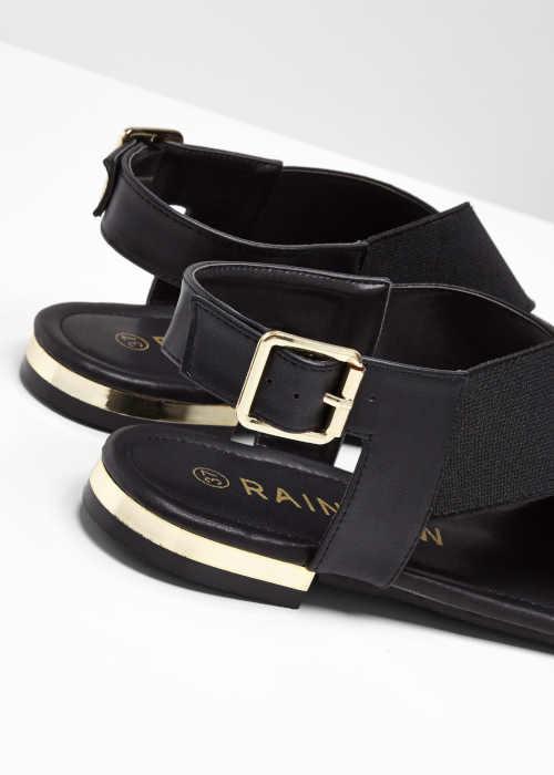 Sandále čierne na nízkom podpätku