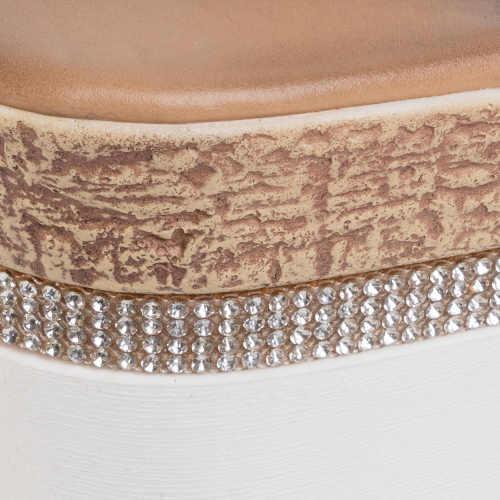 Strieborné sandále zdobené kryštálmi