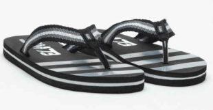 Lacné čiernobiele pánske šľapky SAM 73 MF 40