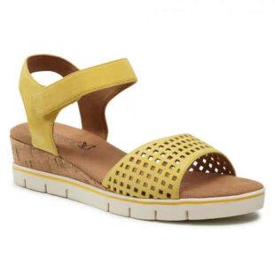 Letné žlté sandále Caprice