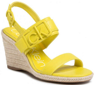 Žiarivo žlté dámske espadrilky Calvin Klein